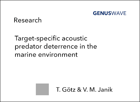 Target-specific acoustic predator deterrence in the marine environment